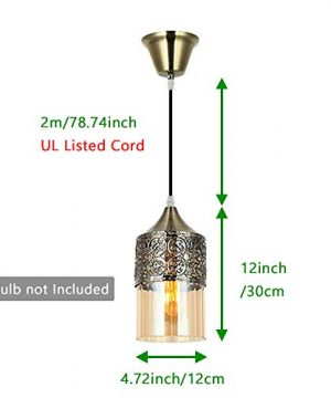 Nurluce 2 Pack Chandeliers For Dining Rooms Arabian Style Pendant Lighting For Kitchen Island Vintage Moroccan Lantern Classical Hanging Lights For Living Room Brass Turkish Lamp 0 0 300x360