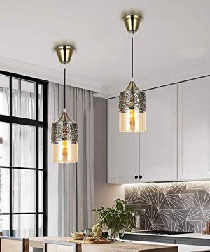 Nurluce 2 Pack Chandeliers For Dining Rooms Arabian Style Pendant Lighting For Kitchen Island Vintage Moroccan Lantern Classical Hanging Lights For Living Room Brass Turkish Lamp 0 1 300x360