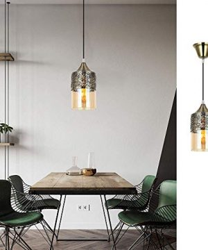 Nurluce 2 Pack Chandeliers For Dining Rooms Arabian Style Pendant Lighting For Kitchen Island Vintage Moroccan Lantern Classical Hanging Lights For Living Room Brass Turkish Lamp 0 2 300x360