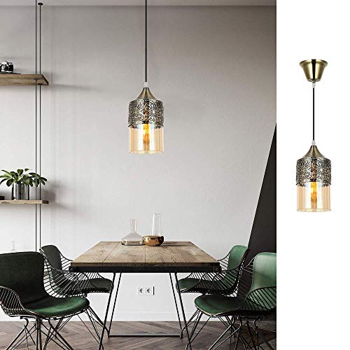 Nurluce 2 Pack Chandeliers For Dining Rooms Arabian Style Pendant Lighting For Kitchen Island Vintage Moroccan Lantern Classical Hanging Lights For Living Room Brass Turkish Lamp 0 2