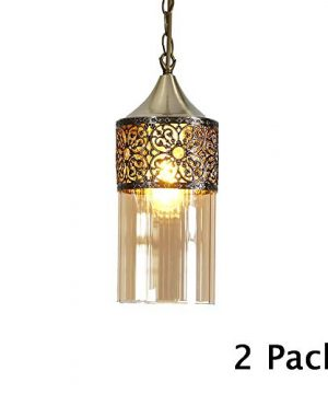 Nurluce 2 Pack Chandeliers For Dining Rooms Arabian Style Pendant Lighting For Kitchen Island Vintage Moroccan Lantern Classical Hanging Lights For Living Room Brass Turkish Lamp 0 300x360