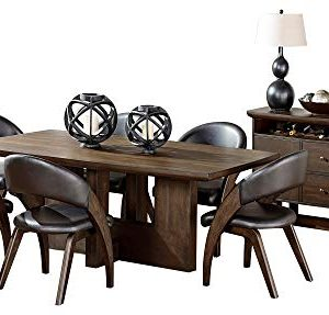 Ochsner Rustic Urban 8PC Dining Set Table 6 Chair Server In Brown 0 300x287