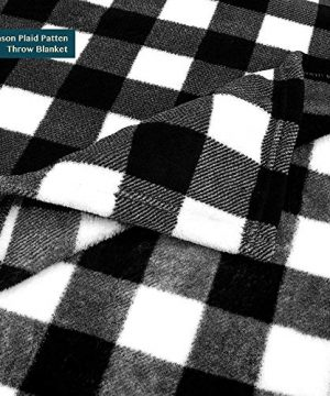 PAVILIA Flannel Fleece Throw Blanket For Sofa Couch Super Soft Velvet Plaid Pattern Checkered Decorative Throw Warm Cozy Lightweight Microfiber 50 X 60 Inches Plaid WhiteBlack 0 1 300x360
