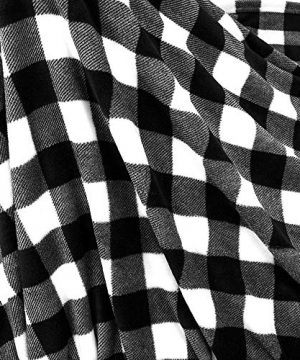 PAVILIA Flannel Fleece Throw Blanket For Sofa Couch Super Soft Velvet Plaid Pattern Checkered Decorative Throw Warm Cozy Lightweight Microfiber 50 X 60 Inches Plaid WhiteBlack 0 3 300x360