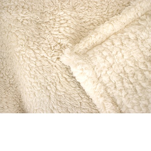 PAVILIA Plush Sherpa Throw Blanket For Couch Sofa Fluffy Microfiber Fleece Throw Soft Fuzzy Cozy Lightweight Solid Latte Cream Blanket 50 X 60 Inches 0 2