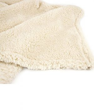 PAVILIA Plush Sherpa Throw Blanket For Couch Sofa Fluffy Microfiber Fleece Throw Soft Fuzzy Cozy Lightweight Solid Latte Cream Blanket 50 X 60 Inches 0 3 300x360