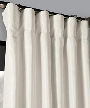PDCH KBS2BO 84 Blackout Vintage Textured Faux Dupioni Curtain Off White 50 X 84 0 0 300x360