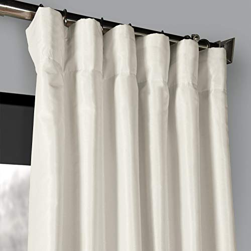 PDCH KBS2BO 84 Blackout Vintage Textured Faux Dupioni Curtain Off White 50 X 84 0 0