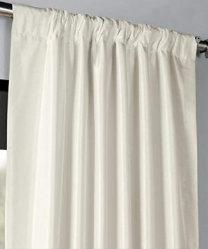 PDCH KBS2BO 84 Blackout Vintage Textured Faux Dupioni Curtain Off White 50 X 84 0 1 300x360