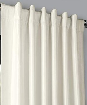 PDCH KBS2BO 84 Blackout Vintage Textured Faux Dupioni Curtain Off White 50 X 84 0 2 300x360