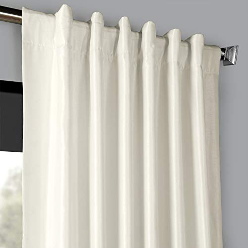 PDCH KBS2BO 84 Blackout Vintage Textured Faux Dupioni Curtain Off White 50 X 84 0 2