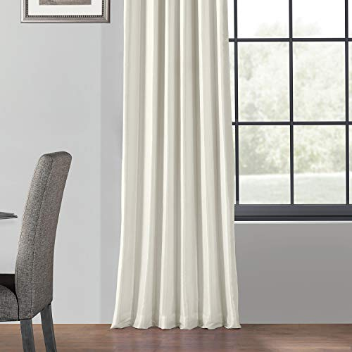 PDCH KBS2BO 84 Blackout Vintage Textured Faux Dupioni Curtain Off White 50 X 84 0 3