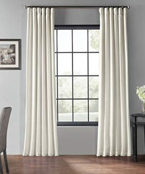 PDCH KBS2BO 84 Blackout Vintage Textured Faux Dupioni Curtain Off White 50 X 84 0 300x360