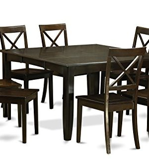PFBO9 CAP W 9 Pc Dining Room Set Kitchen Table With Leaf And 8 Dinette Chairs 0 300x333