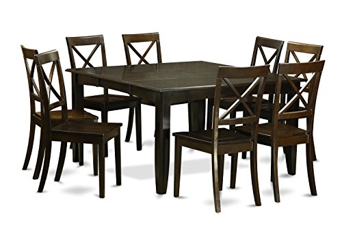 PFBO9 CAP W 9 Pc Dining Room Set Kitchen Table With Leaf And 8 Dinette Chairs 0