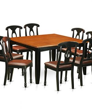 PFKE9 BCH LC 9 Pc Dining Room Set Dining Table And 8 Wood Dining Chairs 0 300x360