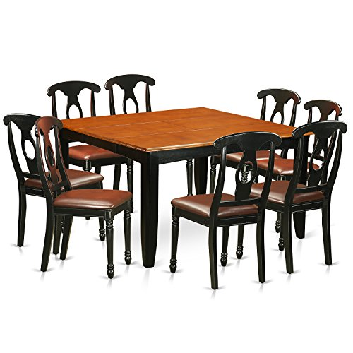 PFKE9 BCH LC 9 Pc Dining Room Set Dining Table And 8 Wood Dining Chairs 0