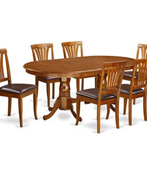 PLAV7 SBR LC 7 PC Dining Set Dining Table And 6 Dining Chairs 0 300x360