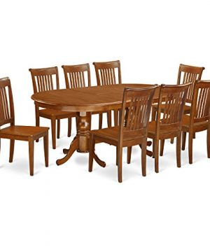 PLPO9 SBR W 9 PC Dining Room Set For 8 Dining Table With 8 Dining Chairs 0 300x360