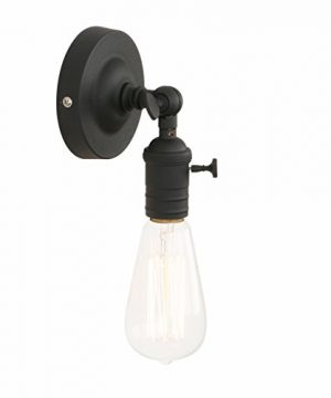 Pathson Vintage Wall Lamp 1 Light Loft Sconce With Candlestick Molding Design Industrial Wall Light Fixture 180 Degree Rotated Metal Base Cap For Farmhouse Bulbs Not Included 0 300x360