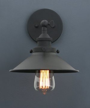 Phansthy Industrial Wall Sconce Light 787 Inches Vintage Style 1 Light Sconce Light Shade 0 0 300x360