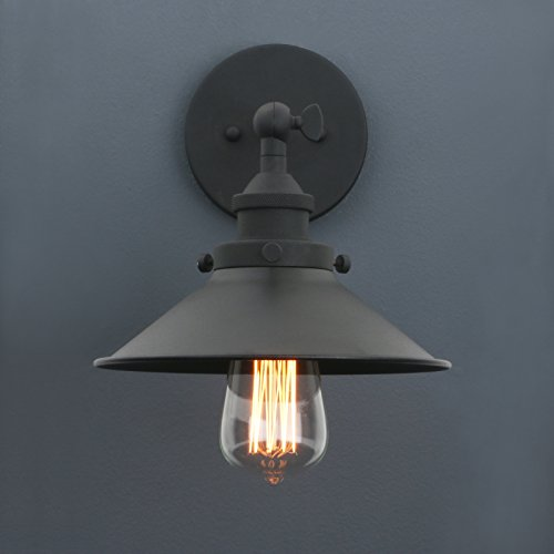 Phansthy Industrial Wall Sconce Light 787 Inches Vintage Style 1 Light Sconce Light Shade 0 0