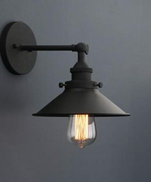 Phansthy Industrial Wall Sconce Light 787 Inches Vintage Style 1 Light Sconce Light Shade 0 2 300x360