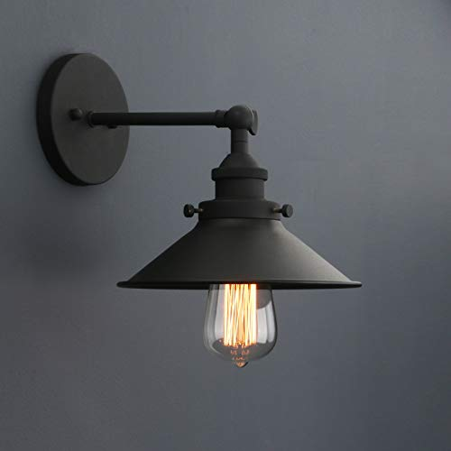 Phansthy Industrial Wall Light with Switch Adjustable Arm Vintage Loft Wall Lamp