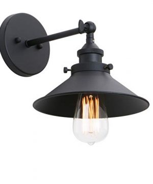 Phansthy Industrial Wall Sconce Light 787 Inches Vintage Style 1 Light Sconce Light Shade 0 300x360