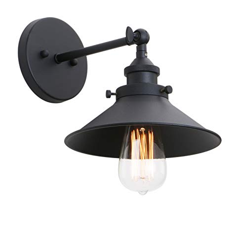 Phansthy Industrial Wall Sconce Light 787 Inches Vintage Style 1 Light Sconce Light Shade 0