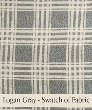 Piper Classics Logan Gray Curtain Panels Set Of 2 84 Long Modern Farmhouse Country Curtains Light Gray Cream Plaid Drapes 0 3 300x360