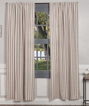 Piper Classics Market Place Gray Ticking Stripe Panel Curtains Set Of 2 84 L X 40 Farmhouse Country Style Gray Cream Window Drapes 0 300x360