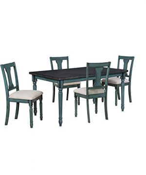 Powell Willow Five Piece Dining Set In Teal 0 300x360