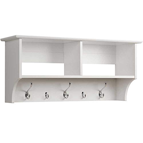 Prepac Hanging Entryway Shelf 36 Inches White 0 0