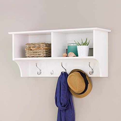 Prepac Hanging Entryway Shelf 36 Inches White 0 1