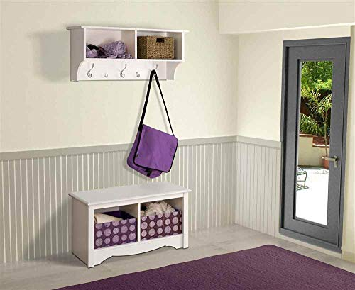 Prepac Hanging Entryway Shelf 36 Inches White 0 3