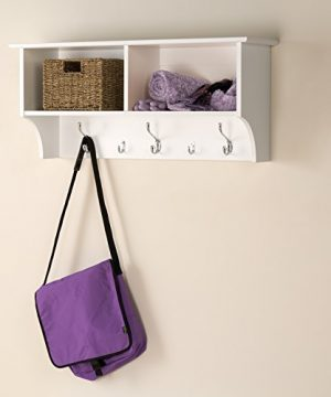 Prepac Hanging Entryway Shelf 36 Inches White 0 300x360