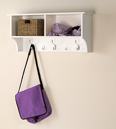 Prepac Hanging Entryway Shelf 36 Inches White 0