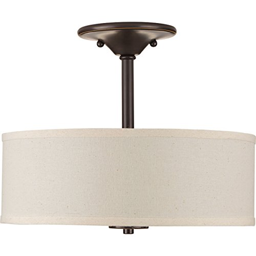 Progress Lighting P3712 20 2 75W MED SEMI Flush Antique Bronze 0 1