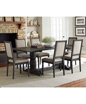 Progressive Furniture Complete Dining Table In Dove Gray 0 300x360