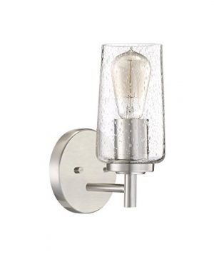 Quoizel EDS8601BN Edison Farmhouse Wall Sconce 1 Light 100 Watts Brushed Nickel 10 H X 5 W 0 0 300x360