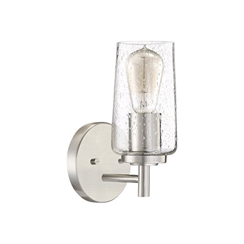 Quoizel EDS8601BN Edison Farmhouse Wall Sconce 1 Light 100 Watts Brushed Nickel 10 H X 5 W 0 0