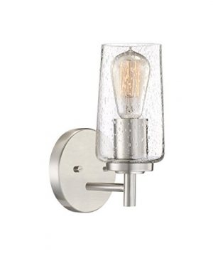 Quoizel EDS8601BN Edison Farmhouse Wall Sconce 1 Light 100 Watts Brushed Nickel 10 H X 5 W 0 300x360