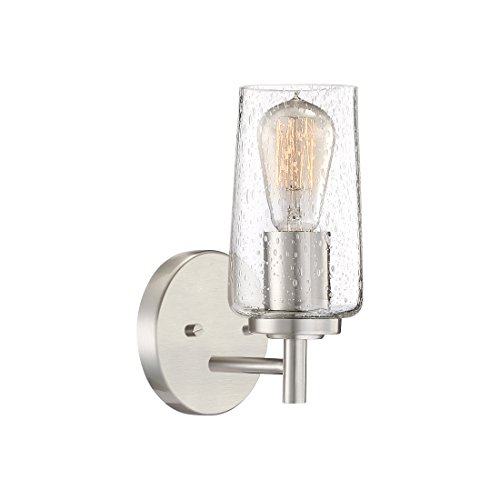 Quoizel EDS8601BN Edison Farmhouse Wall Sconce 1 Light 100 Watts Brushed Nickel 10 H X 5 W 0