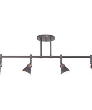 Quoizel QTR10054PN Farmhouse Track Light Kit 4 Light Halogen 200 Watts Palladian Bronze 14 H X 36 W 0 0 300x360