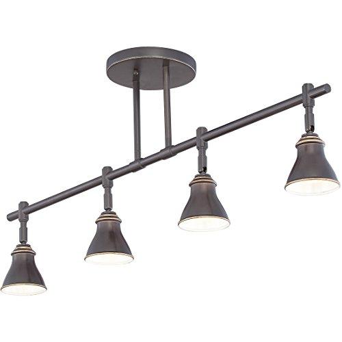 Quoizel QTR10054PN Farmhouse Track Light Kit 4 Light Halogen 200 Watts Palladian Bronze 14 H X 36 W 0 1