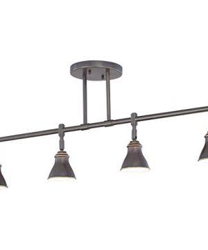 Quoizel QTR10054PN Farmhouse Track Light Kit 4 Light Halogen 200 Watts Palladian Bronze 14 H X 36 W 0 2 300x360