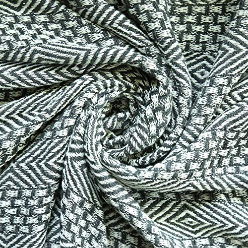 RAJRANG BRINGING RAJASTHAN TO YOU Rustic Farmhouse Throw Blanket Vintage Boho Room Decor Blankets Soft Cotton Cozy Sofa Bed Throw With Cute Tassel Charcoal Grey 50 X 60 Inches 0 3