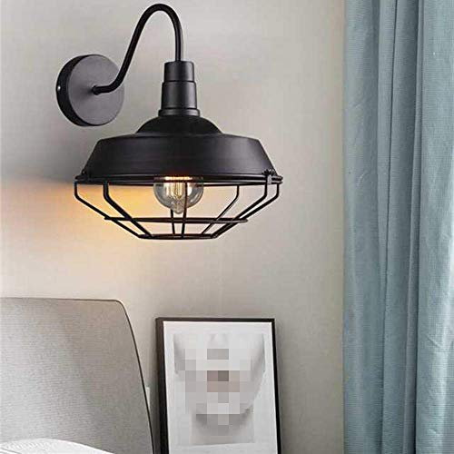Ruxue Industrial Rustic Wall Sconce Light Gooseneck Retro Cage Barn Loft Warehouse Black Wall Light Fixtures Farmhouse Goals