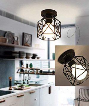RUXUE Samll Modern Semi Flush Mount Ceiling Light Industrial Ceiling Lighting For Kitchen Hallway Porch Room 0 300x360